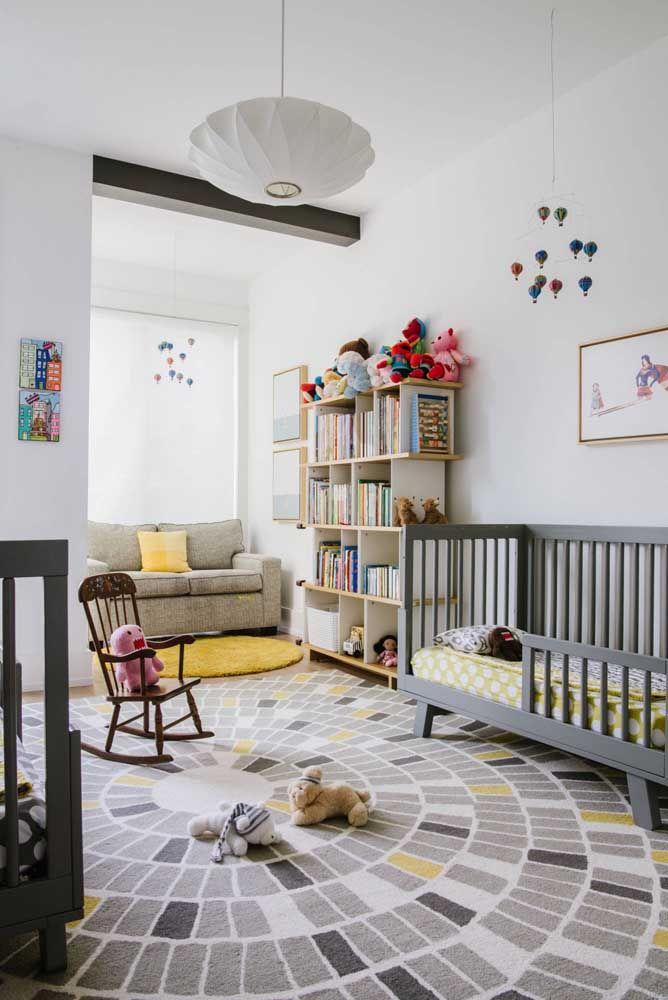Cores neutras e suaves para o tapete infantil grande