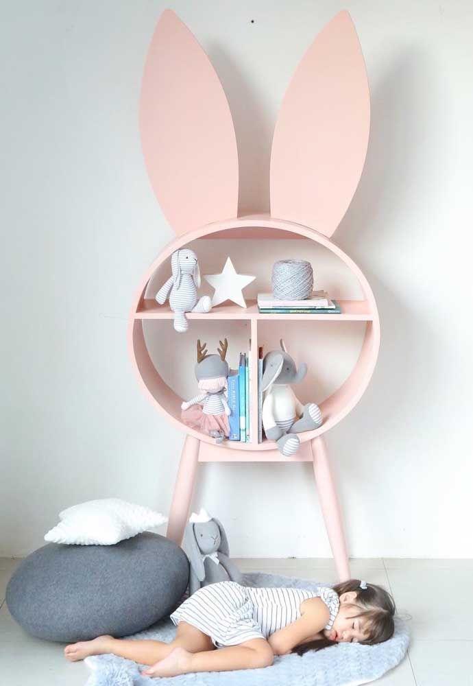 Um charme esse nicho redondo em formato de coelho, tem até orelhinhas!