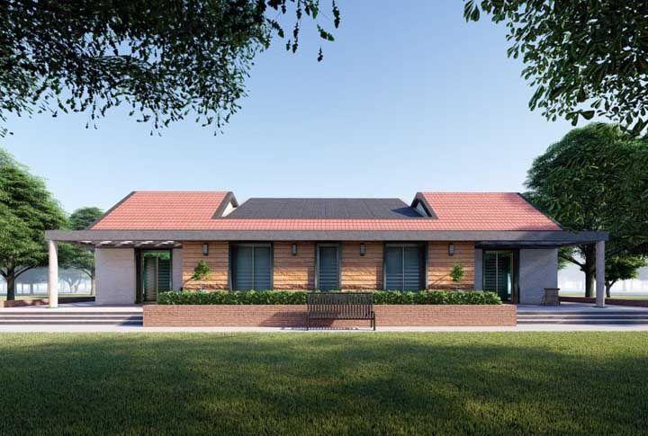 Modelo moderno para a tradicional casa de fazenda