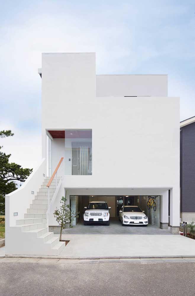 Minimalismo puro na fachada dessa casa: apenas o necessário