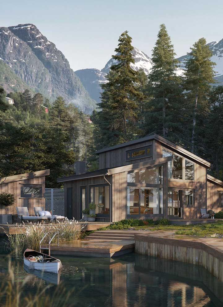 Integração com a natureza é um dos grandes conceitos das casas rústicas