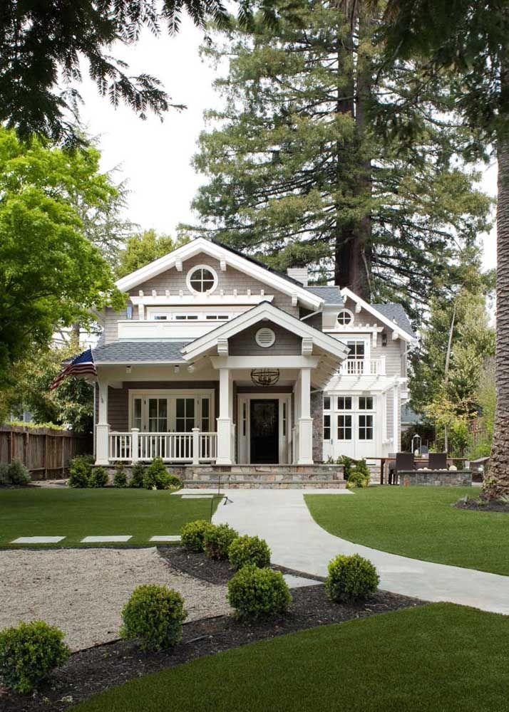 A casa de madeira branca é um marco nas construções tradicionais norte-americanas