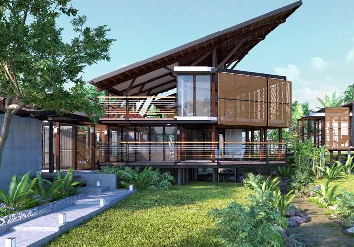 Projeto arrojado de casa tropical