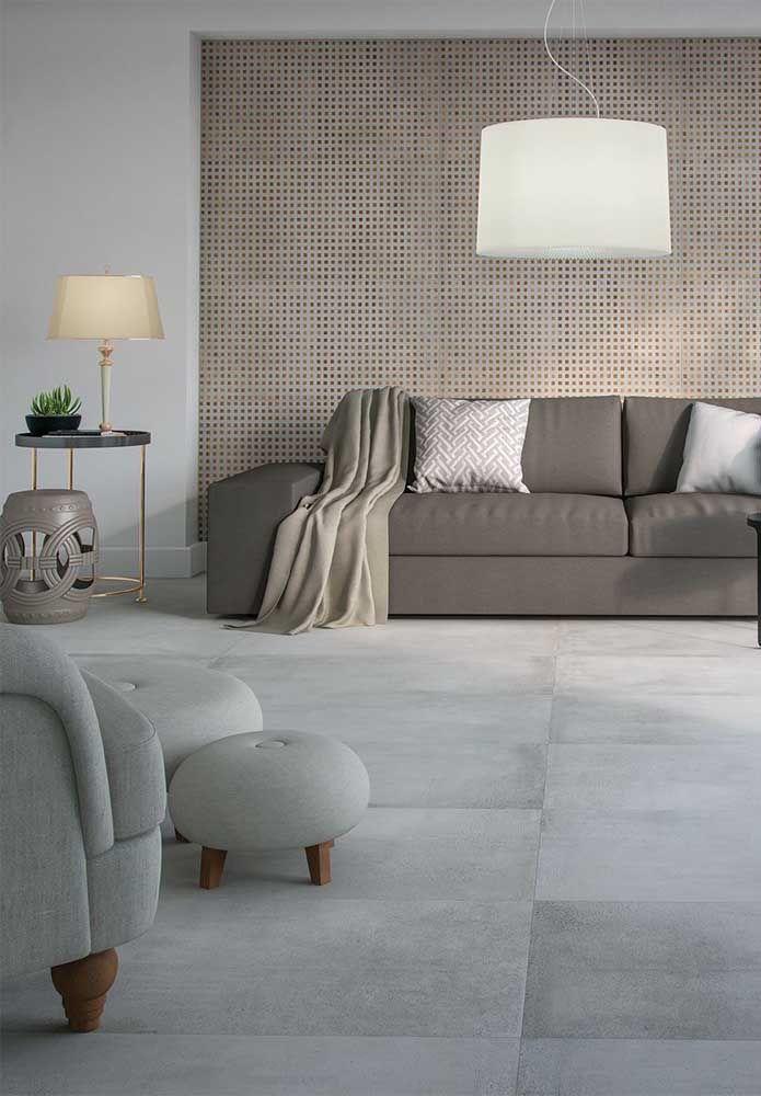 Uma opção de porcelanato fosco para salas: visual aconchegante e acolhedor