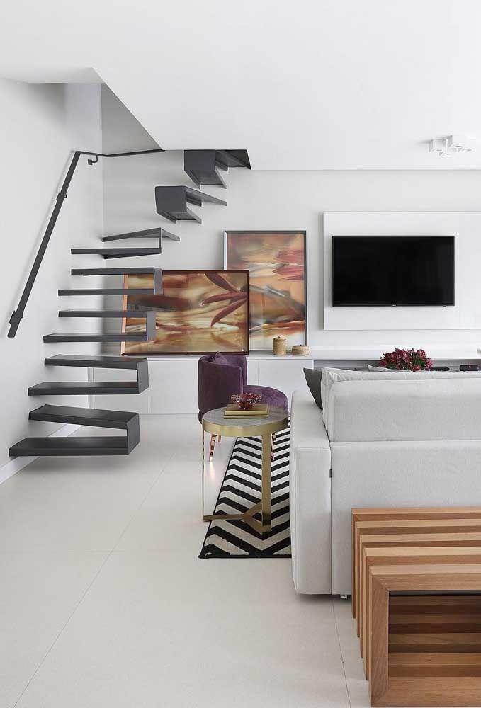 Porcelanato para a sala em branco fosco: elegância com naturalidade