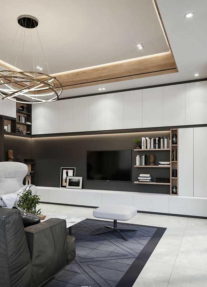 Porcelanato fosco em cinza para a sala elegante e moderna