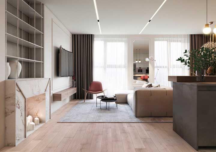 O modo de colocação do piso porcelanato amadeirado faz com que a aparência fique ainda mais próxima da madeira natural