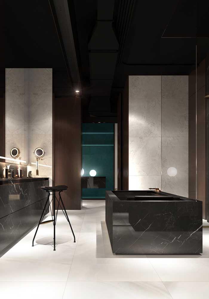Uma opção de Marmoglass clássica e super elegante para o banheiro; sofisticação em nível máximo
