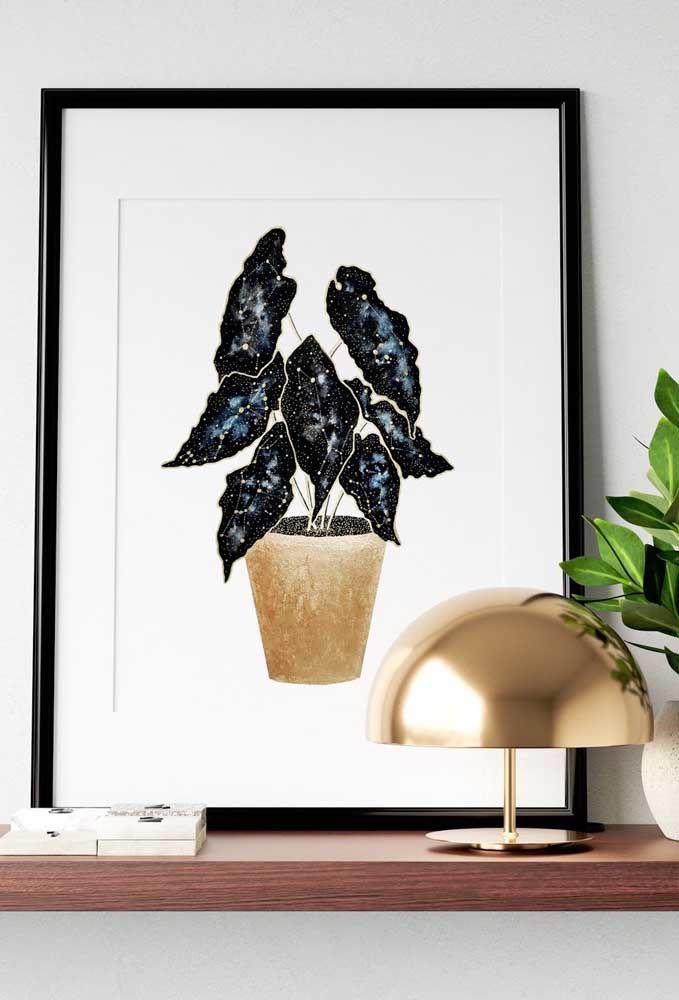 Ou quem sabe um quadro com a foto da planta? Ela não deixa de ser linda