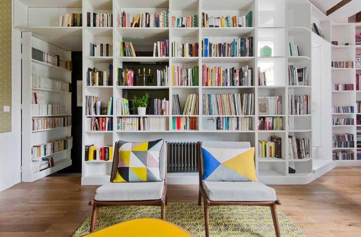 Uma verdadeira biblioteca em casa