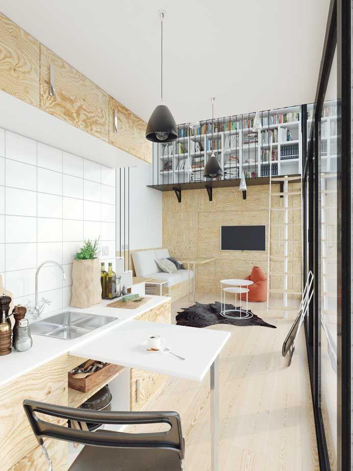 Casas pequenas e térreas também podem contar com o pé-direito duplo e ficam lindas