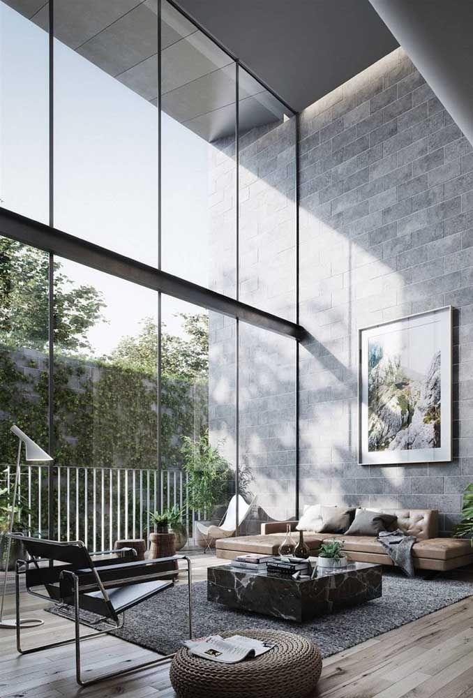 O conceito de iluminação tem que andar lado a lado com a arquitetura do pé-direito duplo