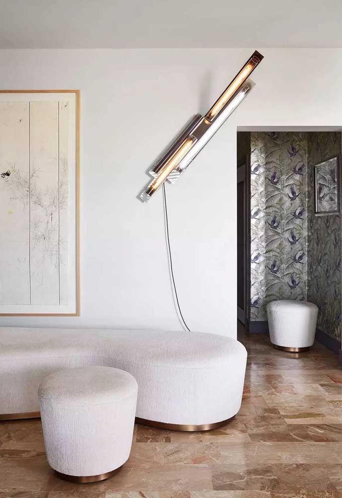 Escultura de parede para sala de estar com iluminação acoplada