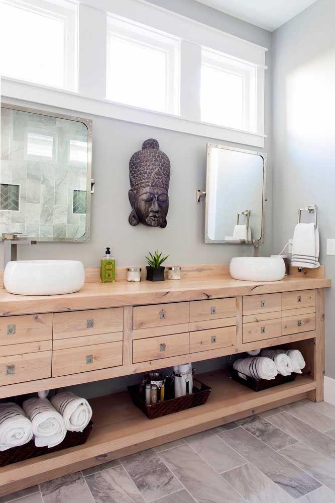 Escultura no estilo indiano para o banheiro; todos os ambientes combinam com esculturas de parede