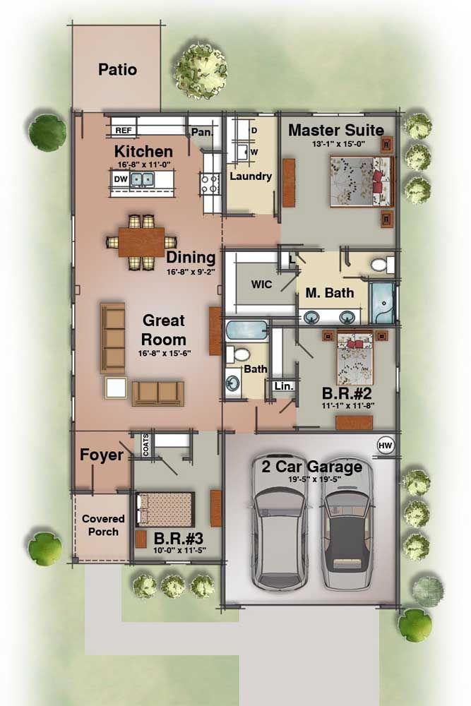 Ambientes integrados valorizam pequenos espaços e ainda garantem um toque de modernidade ao projeto arquitetônico