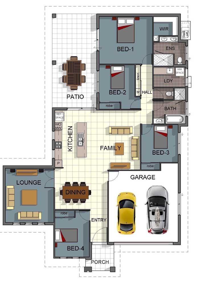Mesmo pequena, a planta da casa precisa contemplar espaço para ao menos um vaga de garagem