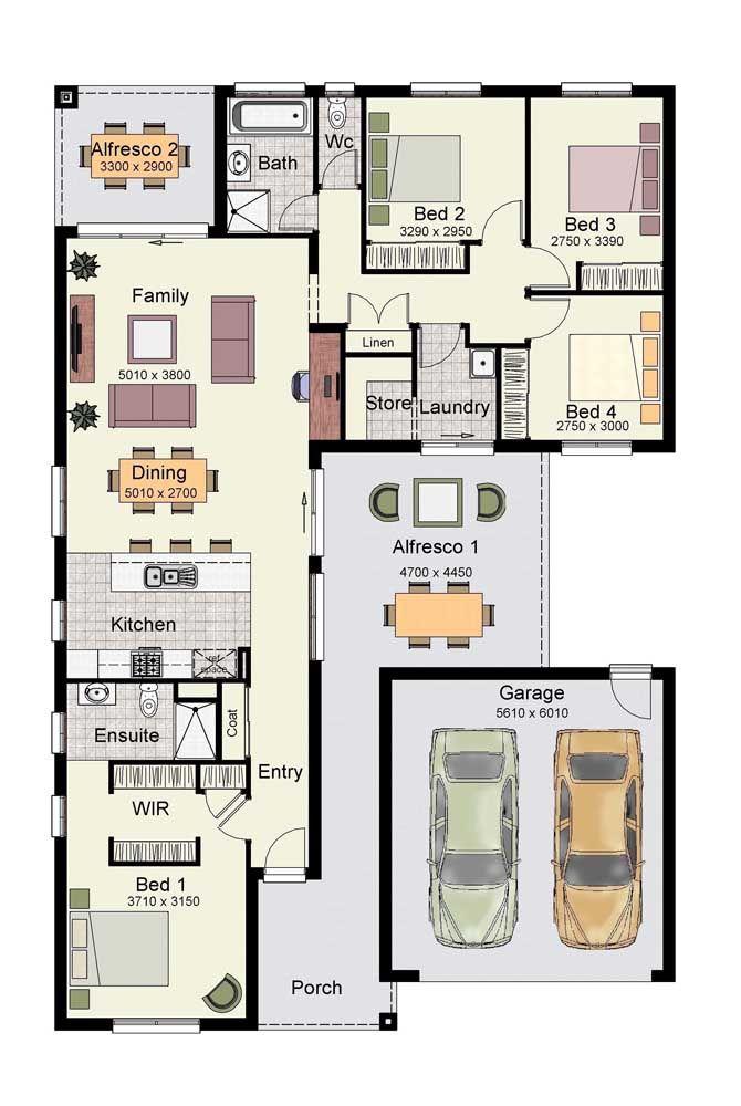 Planta de casa pequena com um quarto e closet