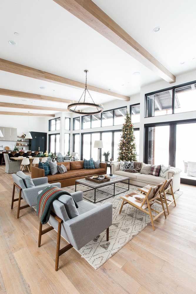 Nada como uma sala dois ambientes para valorizar a interação e convivência familiar e social