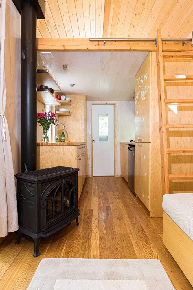 Mini casa preparada para os dias de inverno