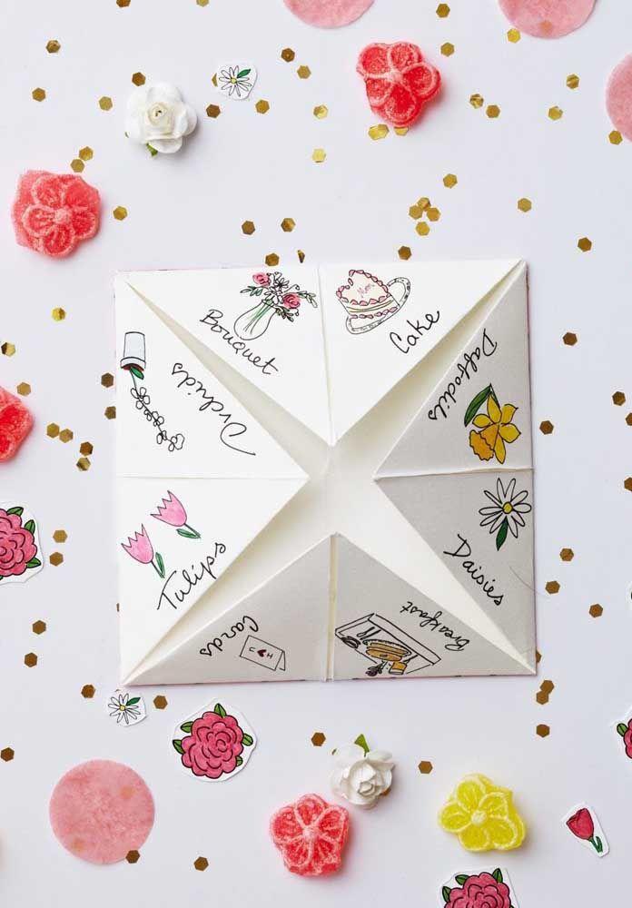 Frente de um cartão diferente para o Dia das Mães