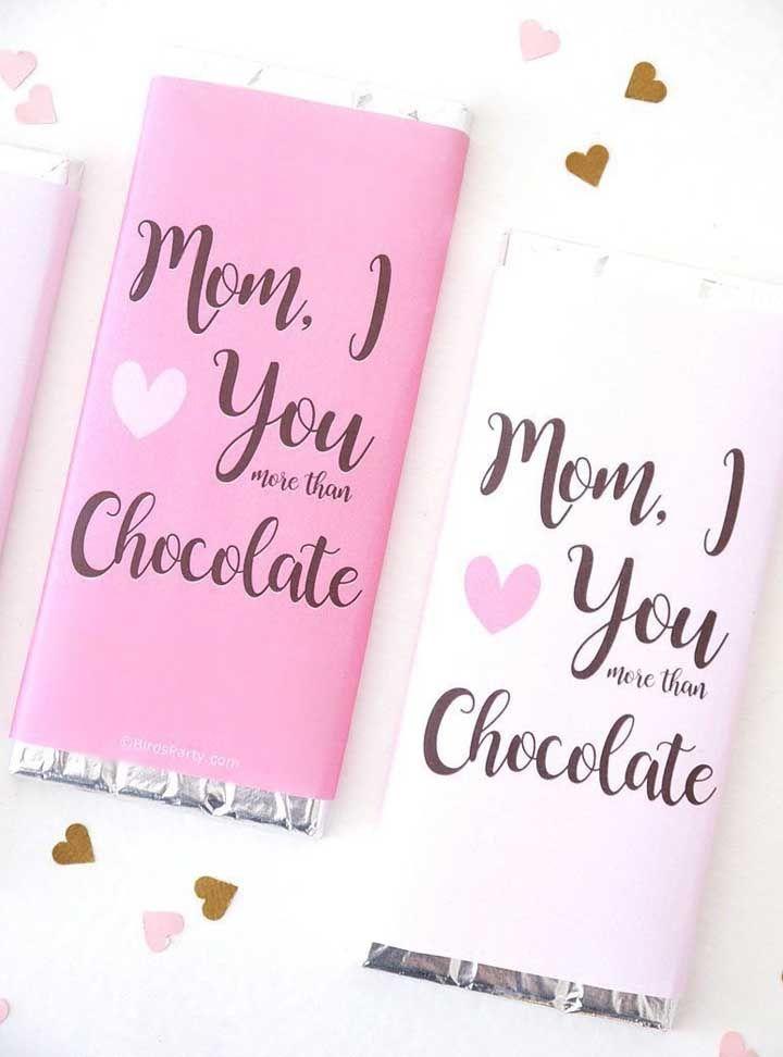 Ama mais que chocolate sua mãe também? Então que tal uma lembrancinha assim