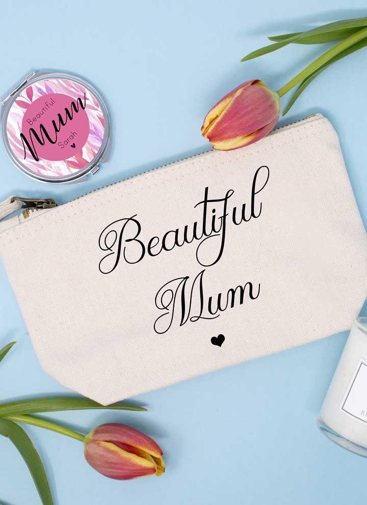 Para uma mamãe linda, uma lembrancinha para guardar maquiagem