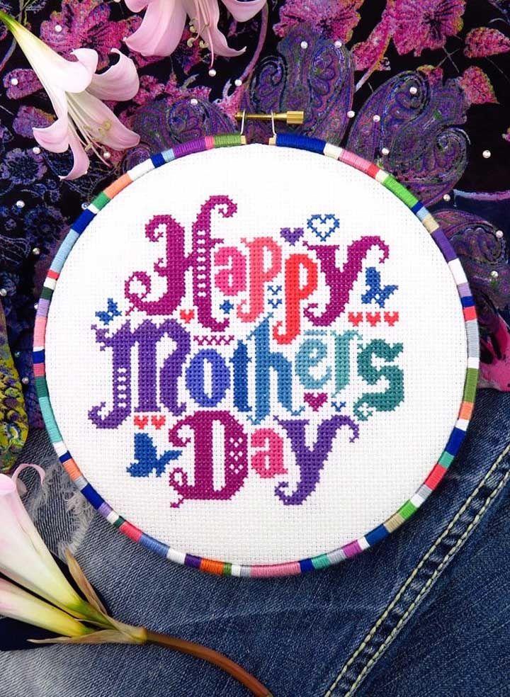 Sabe bordar? Então pegue agulha e linhas e faça um bordado especial para o dia das mães
