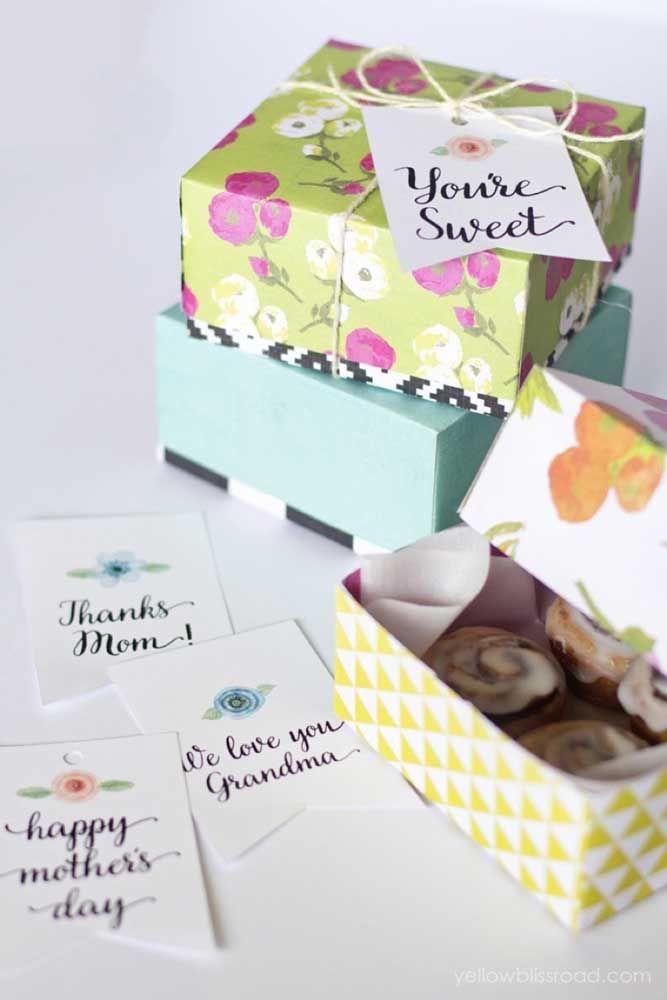Caixinhas de doces caseiros para o Dia das mães: ótima ideia para quem também procura uma oportunidade de aumentar a renda nessa época, você pode fazer para vender