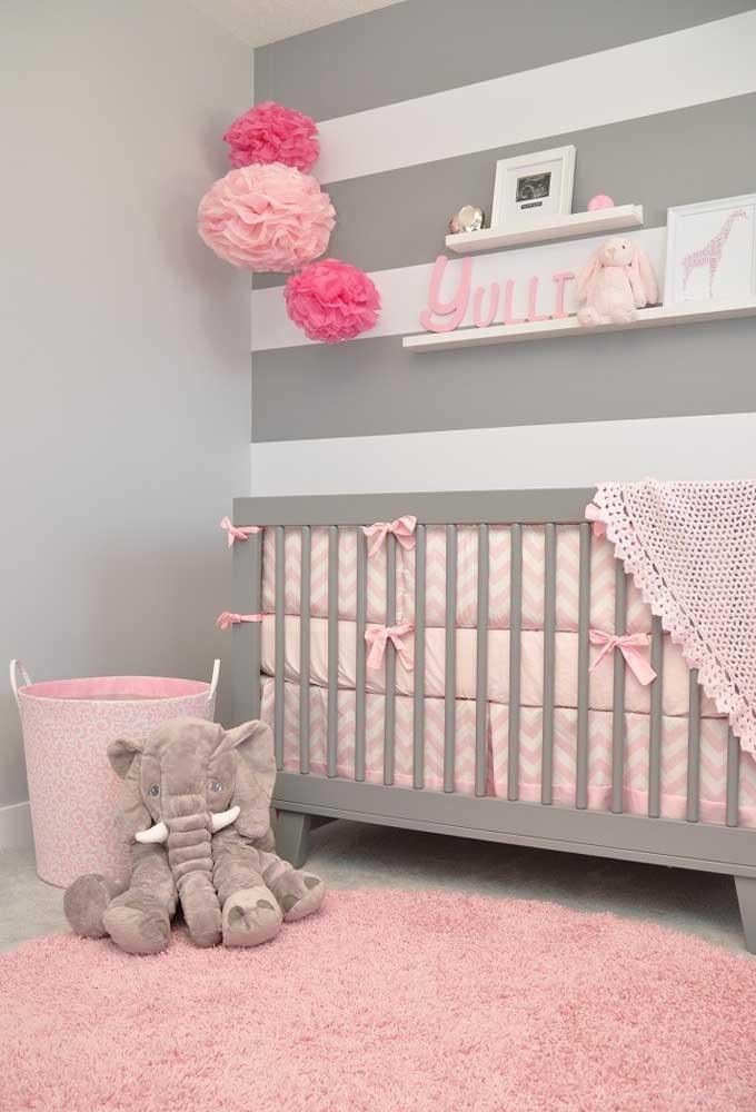 O que você acha de misturar as cores cinza e rosa? A combinação é absolutamente perfeita!