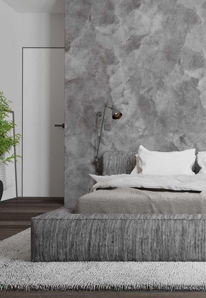 Incrível como a cor cinza deixa o quarto mais moderno e sofisticado.