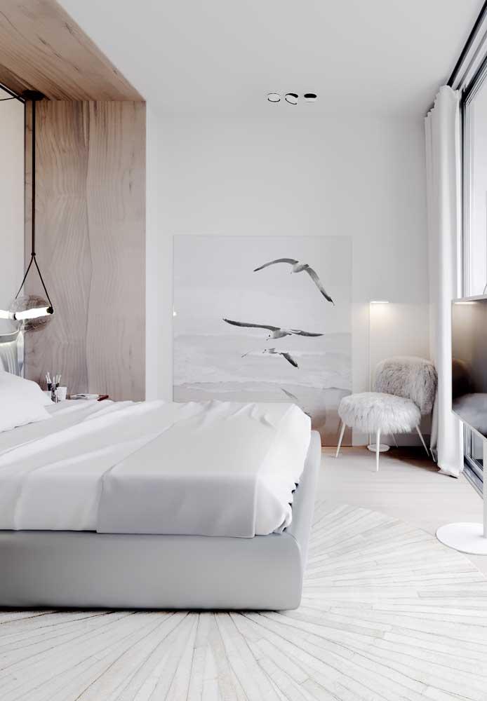 Mais clean do que o quarto cinza e branco, só o branco total.
