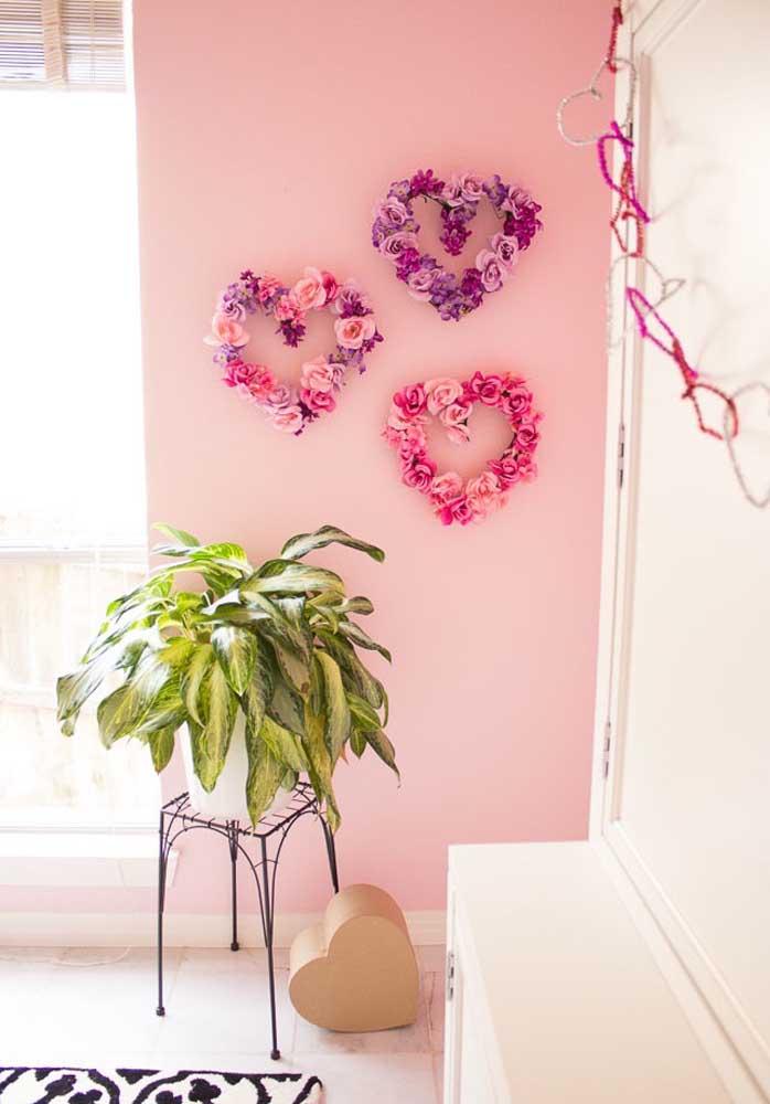Olha que decoração dia dos namorados simples, mas feita com muito carinho.