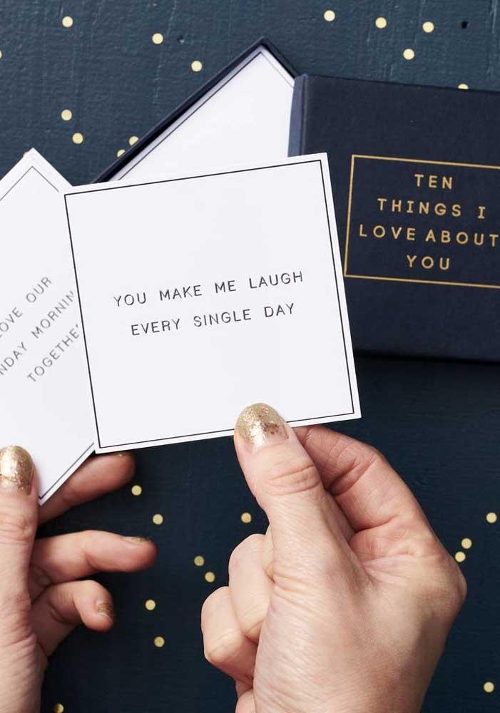 Quer fazer algo mais simples, porém extremamente significativo no dia dos namorados? Prepare uma mensagem apaixonante.