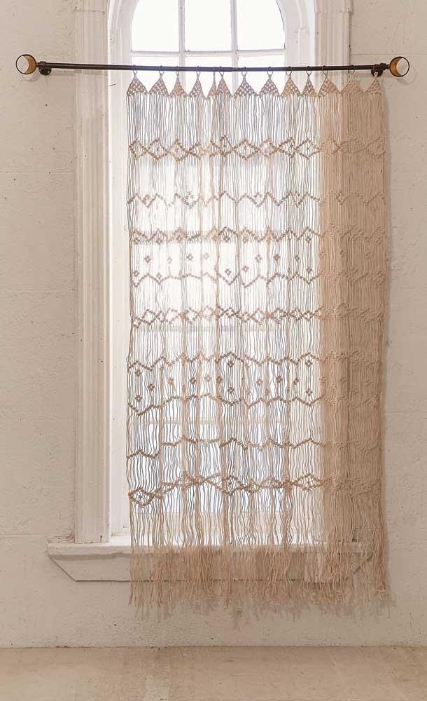 Uma grande vantagem das cortinas de crochê é que elas podem ser feitas totalmente sob medida e do jeitinho que você quiser