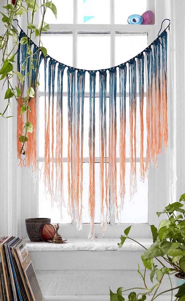 Olha que boa ideia de cortina de crochê para quem ainda está aprendendo os primeiros pontos