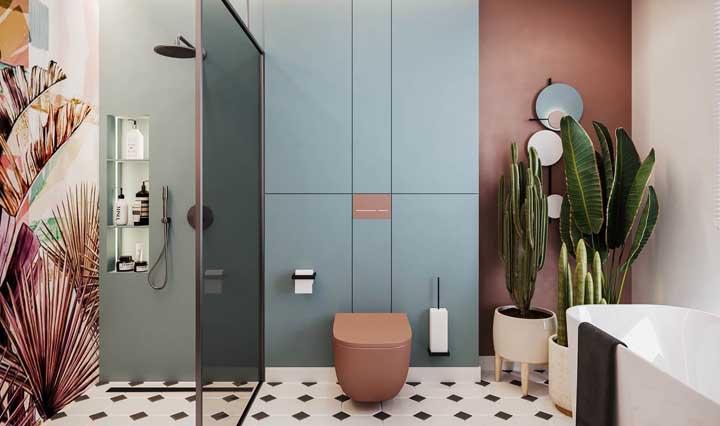Mármore ou porcelanato? O banheiro de luxo pode ser revestido com ambos os materiais e ficar perfeito!