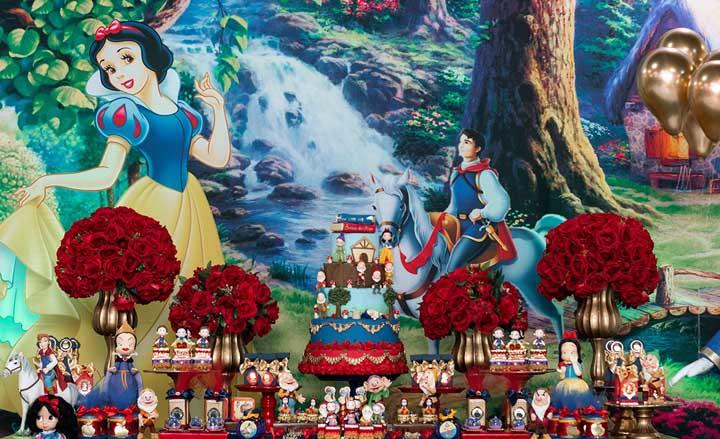 Festa Branca de Neve: 85 ideias de decoração e fotos do tema