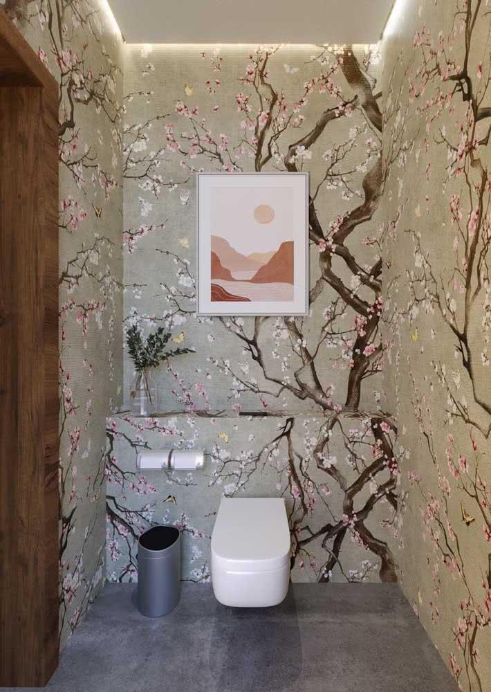 Visão da área do sanitário do banheiro.