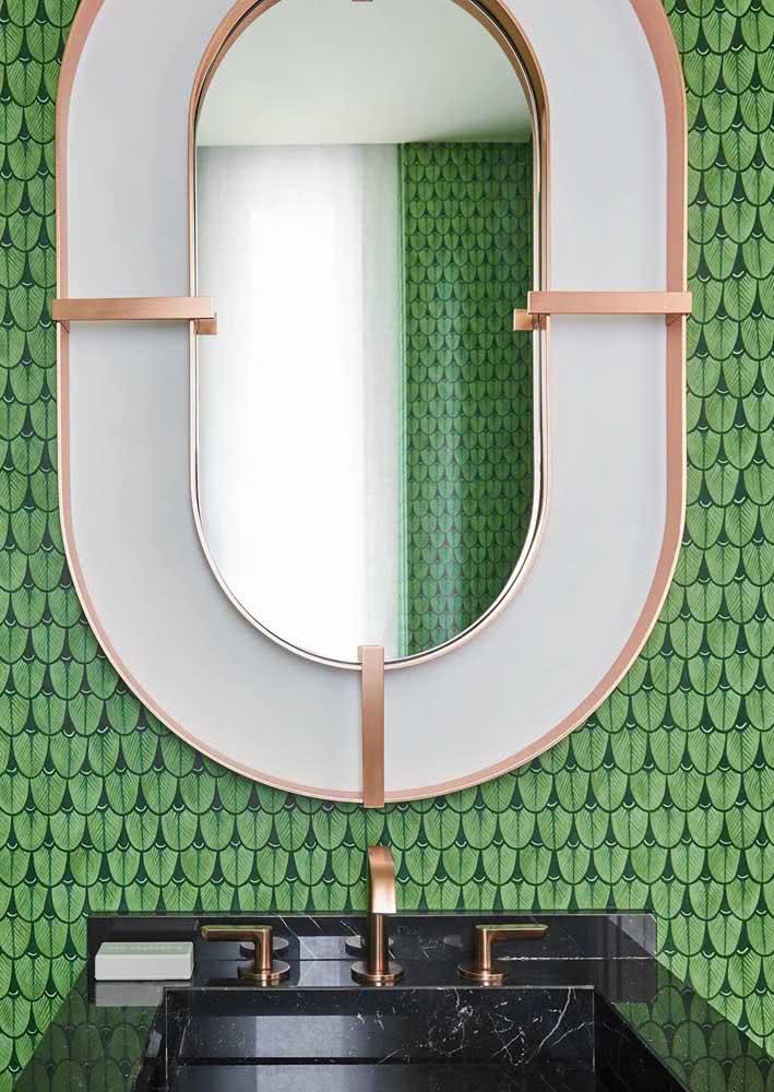 Papel de banheiro para lavabo na cor verde.