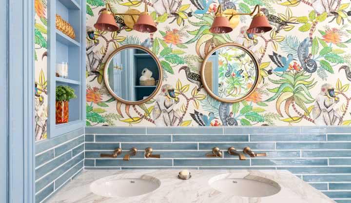 Papel de parede para banheiro: 51 modelos e fotos para escolher o seu