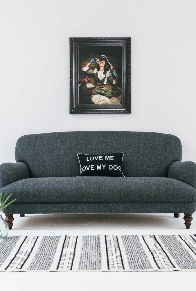 Nesse sofá tudo se ajusta perfeitamente: cor, textura e design