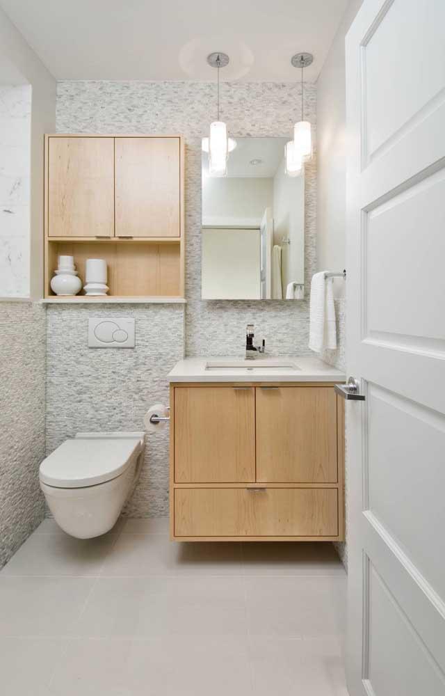 Inspiração de canjiquinha branca para o banheiro clean