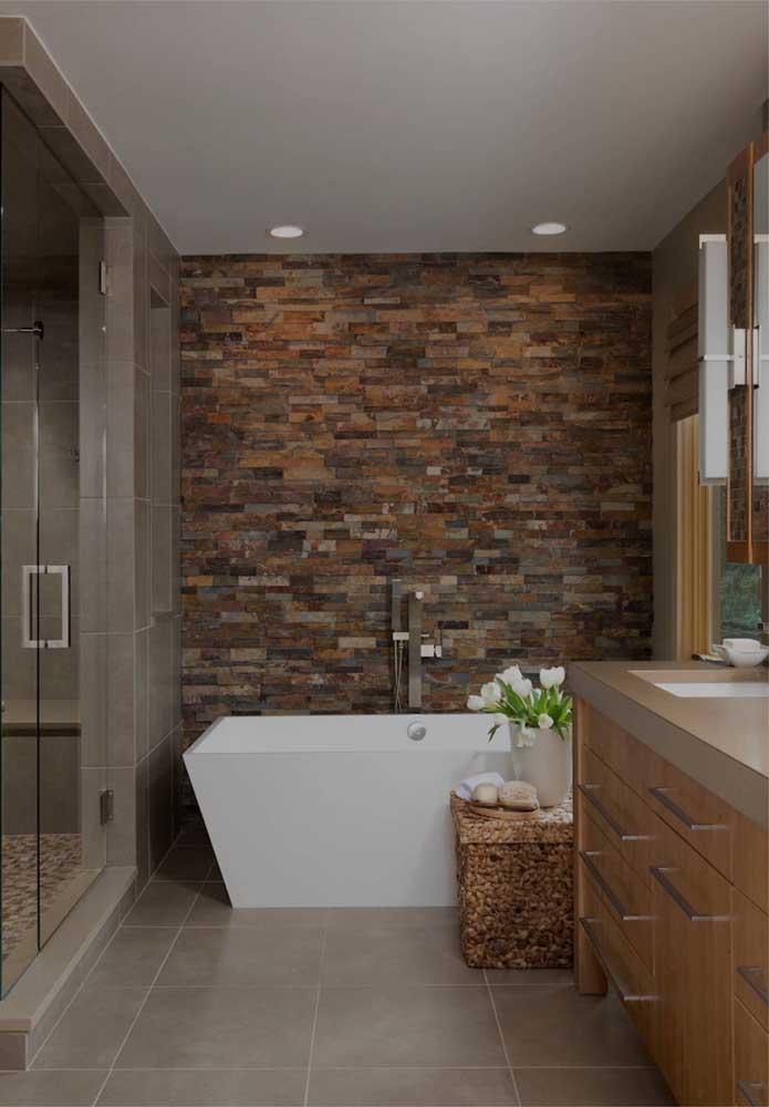 Canjiquinha ferro para a parede do banheiro moderno