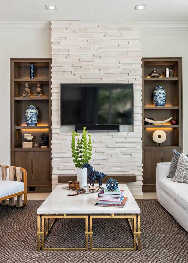 Canjiquinha são tomé branca para a sala de estar pequena da casa
