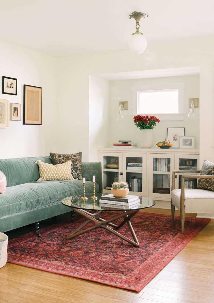 Tapete vermelho de estilo persa para a sala de estar clássica e elegante