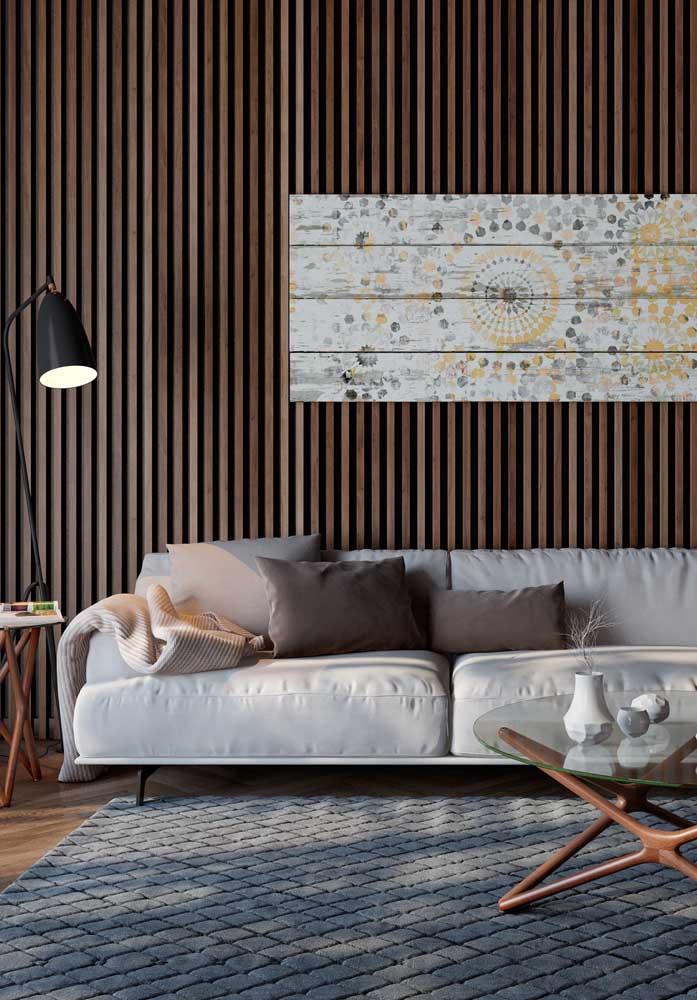 O tapete em relevo cria ainda mais conforto no ambiente