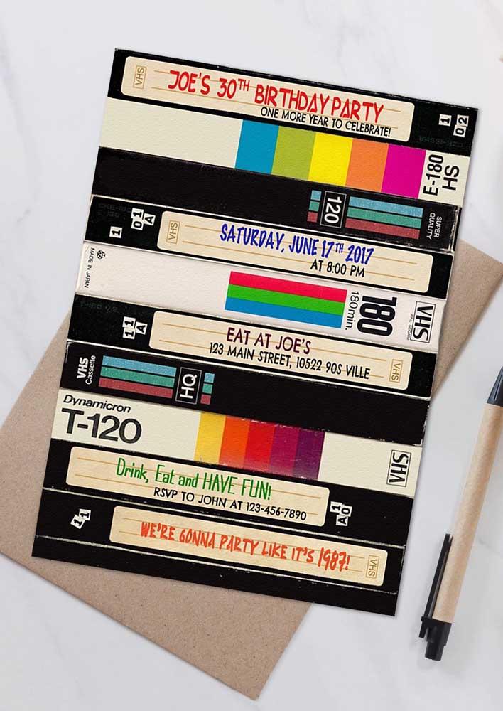 Que tal reproduzir na festa os vídeos antigos que você tem ai guardado? Uma surpresa e tanto para os convidados