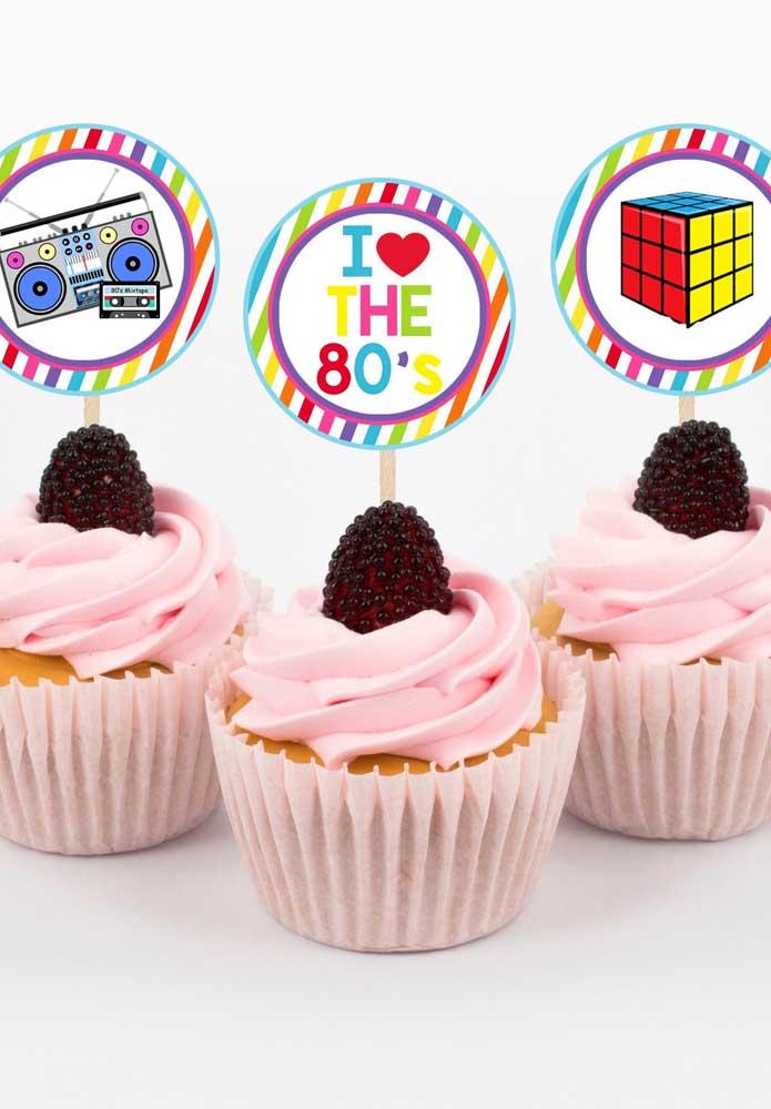 Os cupcakes também entraram no ritmo dos anos 80