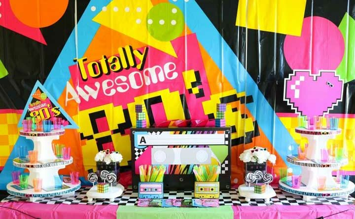Festa anos 80: o que servir e como decorar com ideias criativas
