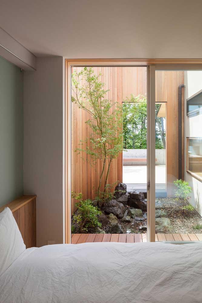 Imagina acordar todas as manhãs e poder contemplar um jardim ao lado da cama? Maravilhoso!